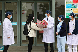 Another patient discharged from the hospital in Shanghai