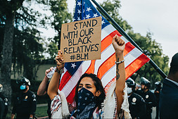 I stand with our black relatives