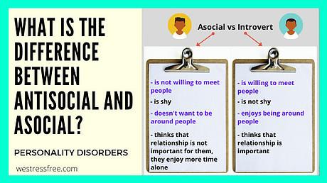 Asocial vs Introvert
