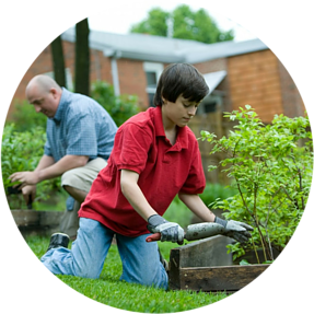 Gardening will encourage you to move a lot, like exercising