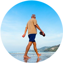 Walking is a great exercise for seniors.